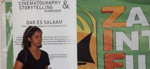 Workshop auf dem Filmfestival 2012